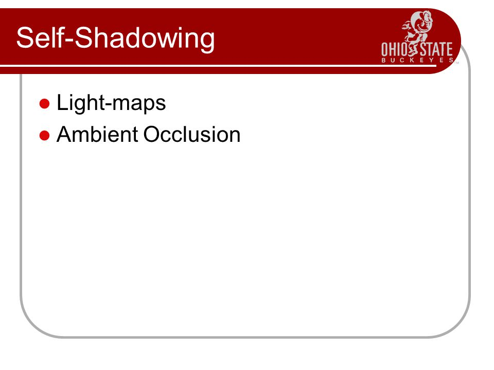 Self-Shadowing Light-maps Ambient Occlusion