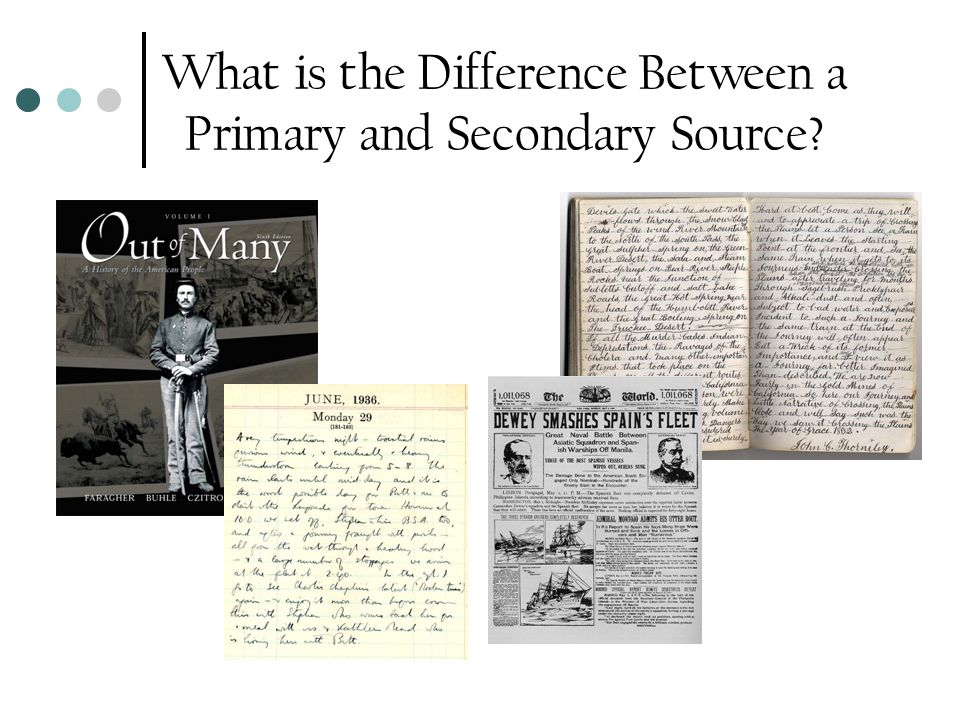 What is the Difference Between a Primary and Secondary Source