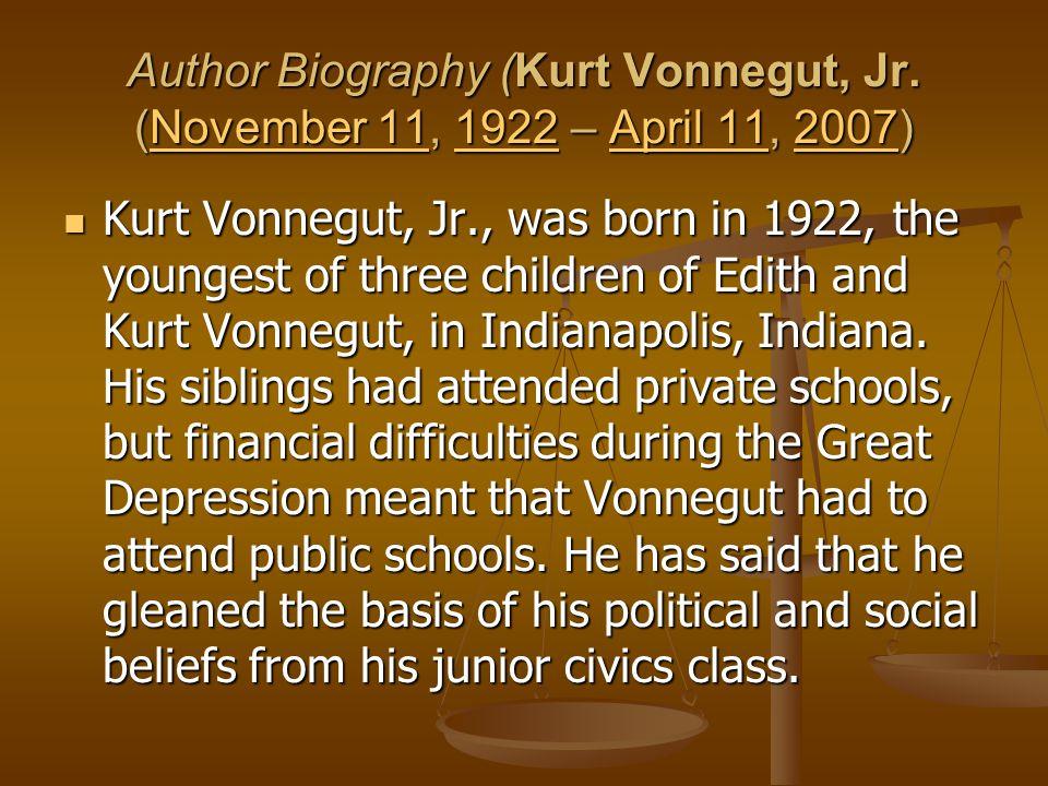 Author Biography (Kurt Vonnegut, Jr