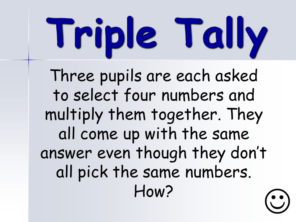 Triple Tally
