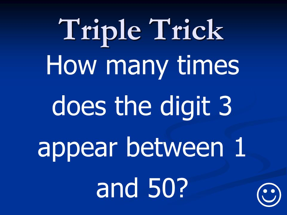 How many times does the digit 3 appear between 1 and 50