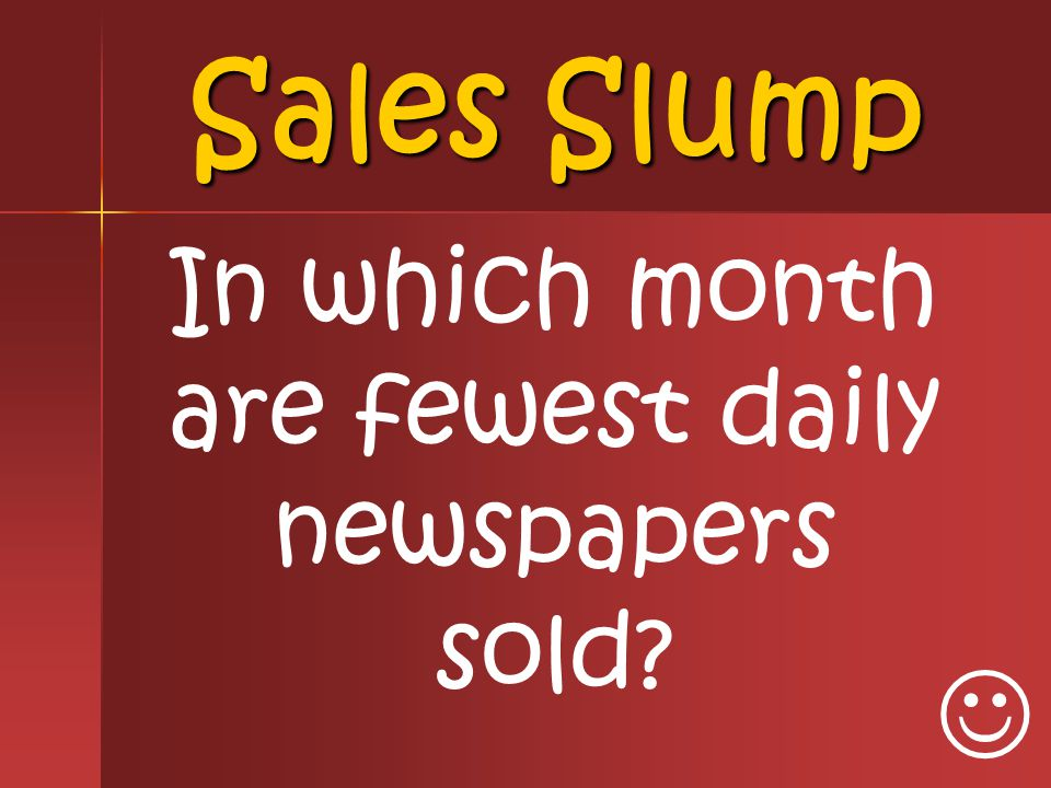 In which month are fewest daily newspapers sold