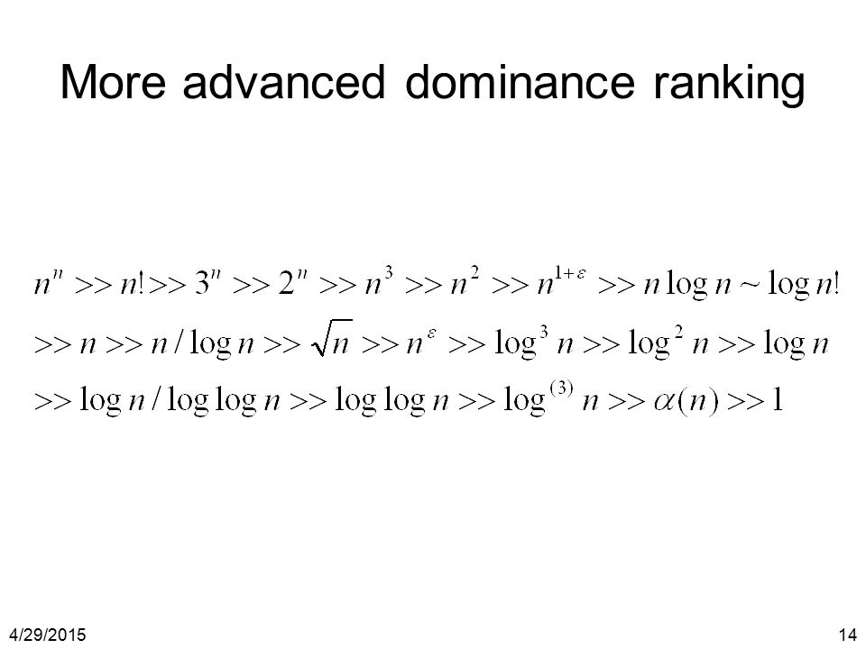 More advanced dominance ranking
