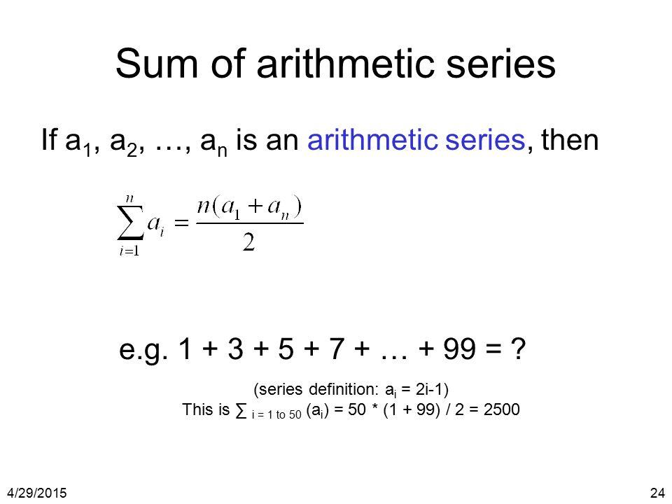 Sum of arithmetic series