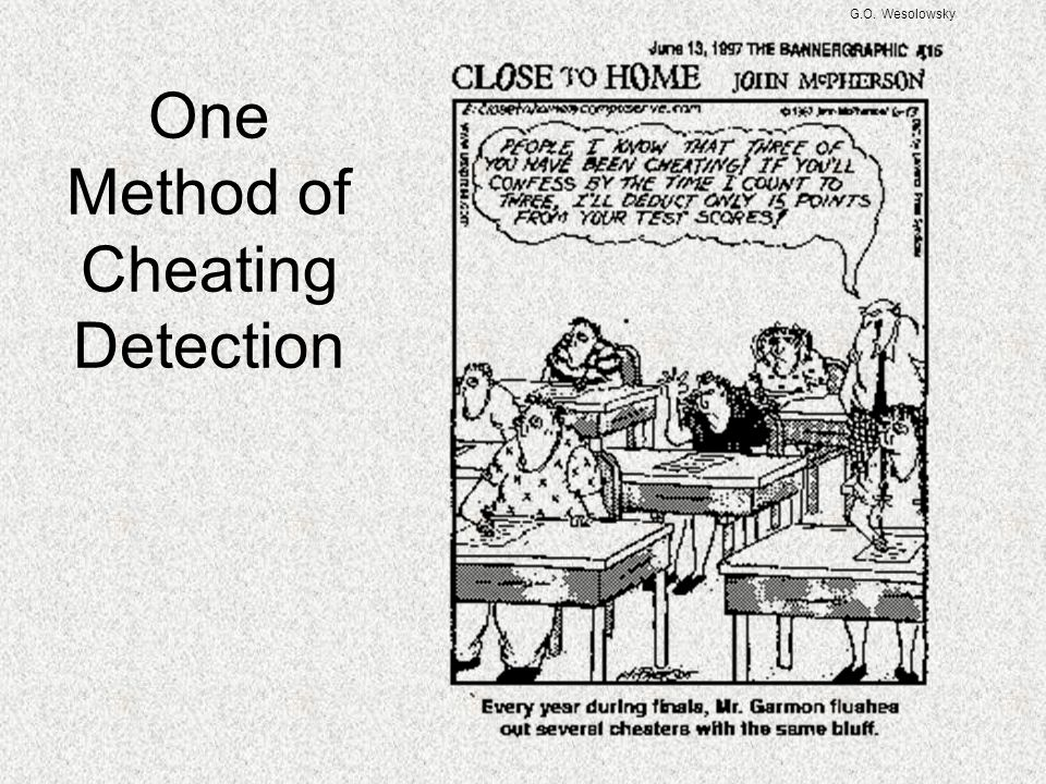 One Method of Cheating Detection