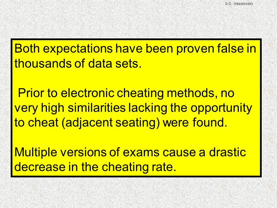 Both expectations have been proven false in thousands of data sets.