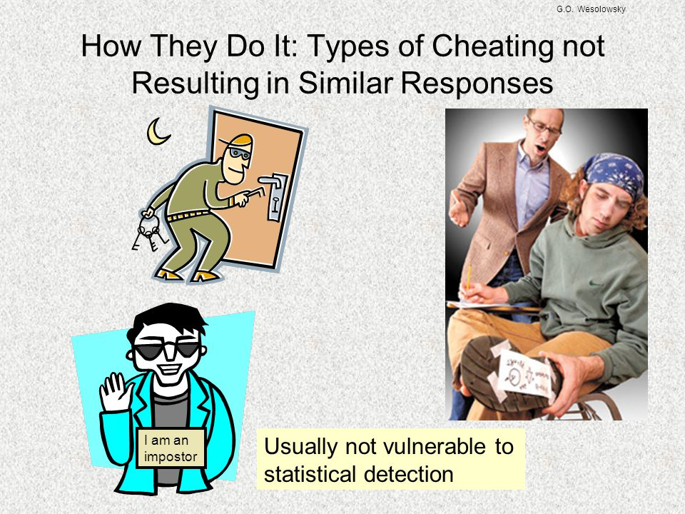 How They Do It: Types of Cheating not Resulting in Similar Responses