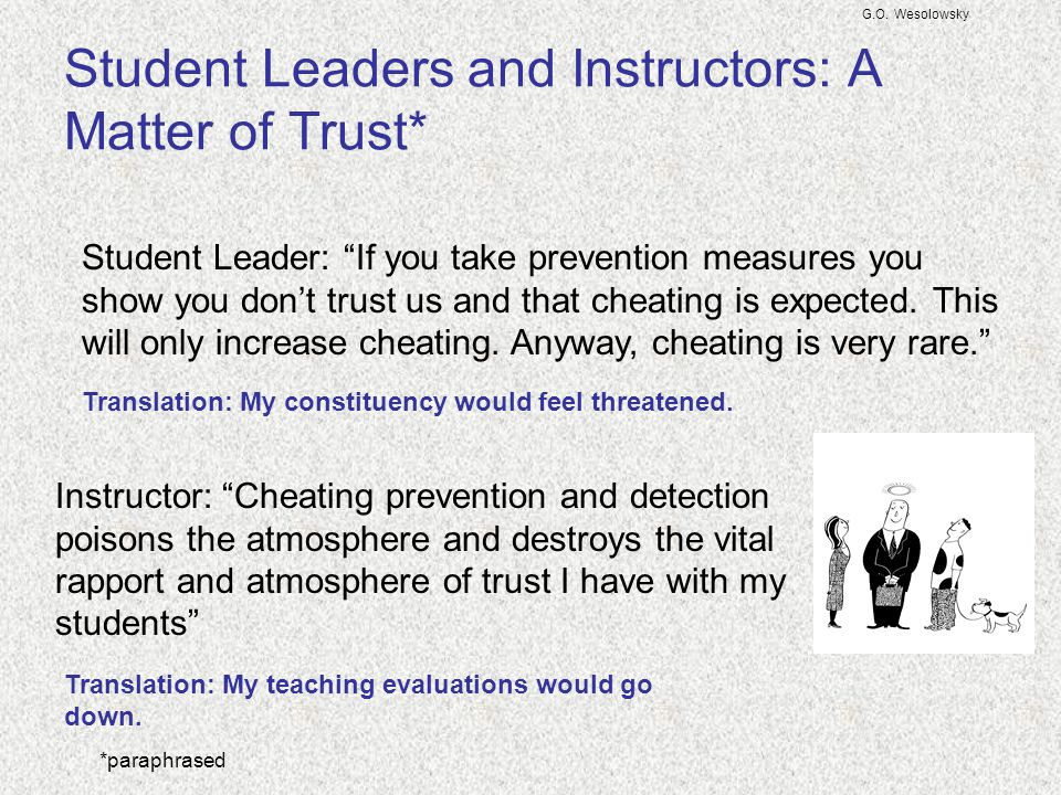 Student Leaders and Instructors: A Matter of Trust*