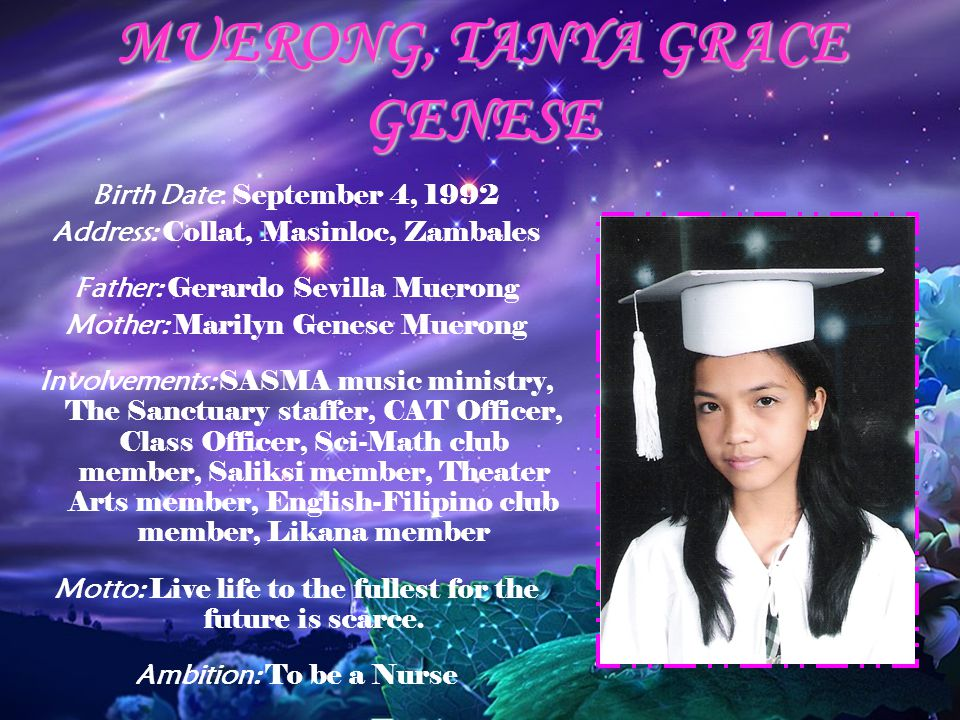 MUERONG, TANYA GRACE GENESE