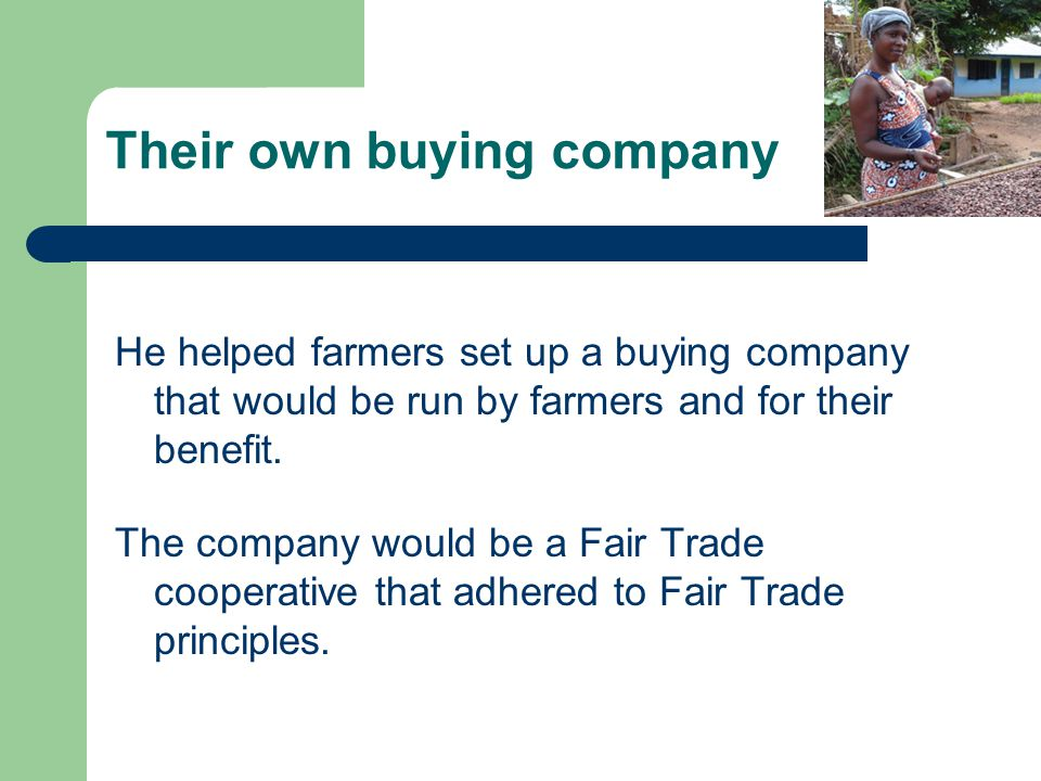 Their own buying company