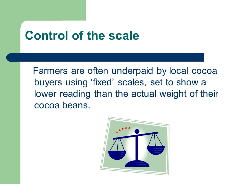 Control of the scale