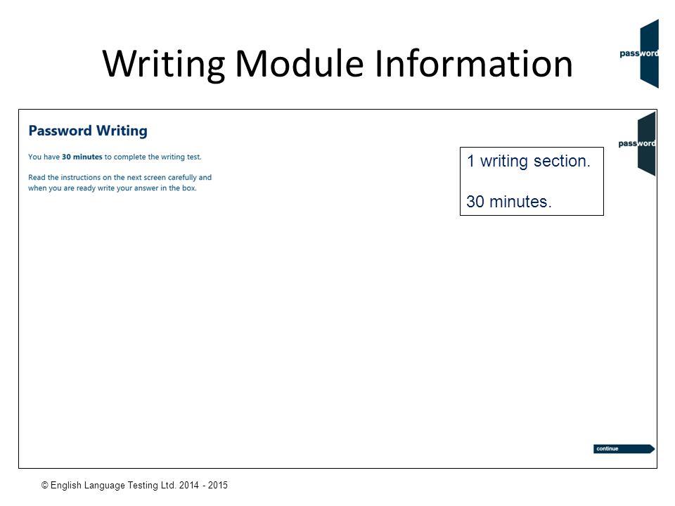 Writing Module Information