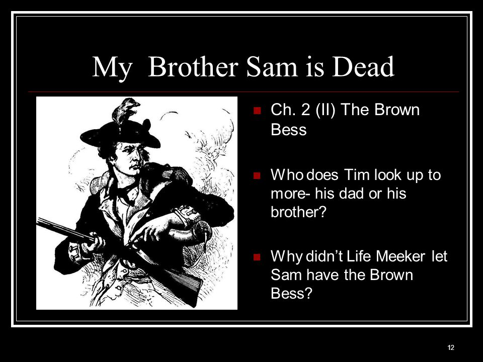 My Brother Sam is Dead Ch. 2 (II) The Brown Bess
