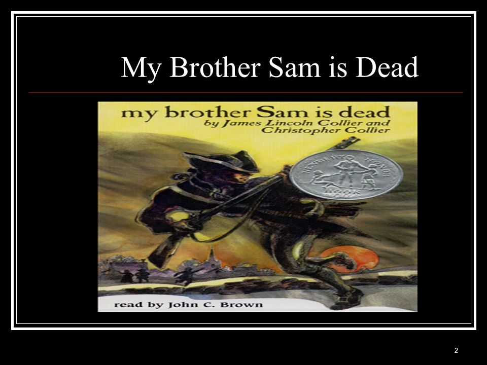 """my brother sam is dead theme essay In the story """"my brother sam is dead"""" the deaths of both sam and mr meeker were ironic and cruel."""