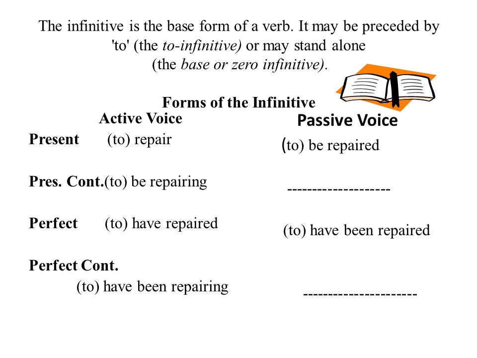 Passive Voice (to) be repaired
