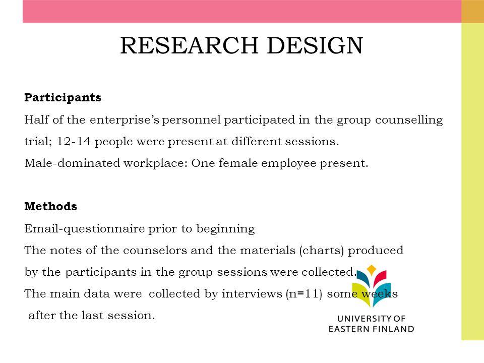 RESEARCH DESIGN Participants
