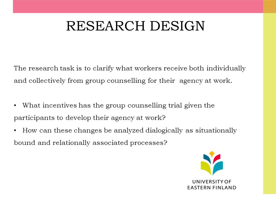 RESEARCH DESIGN The research task is to clarify what workers receive both individually.