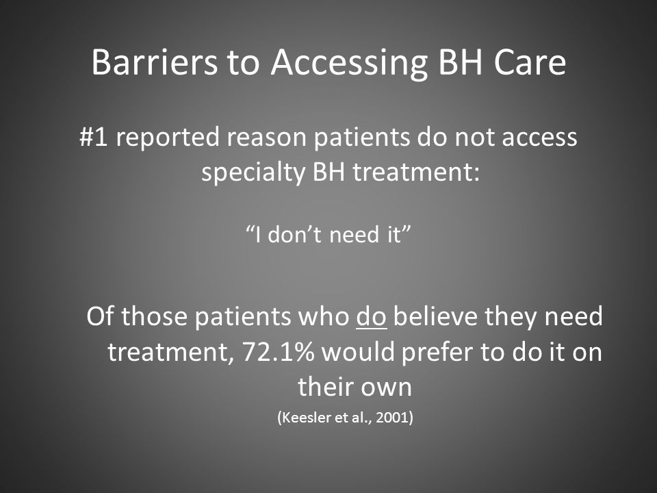 Barriers to Accessing BH Care