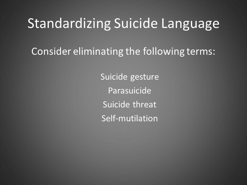 Standardizing Suicide Language
