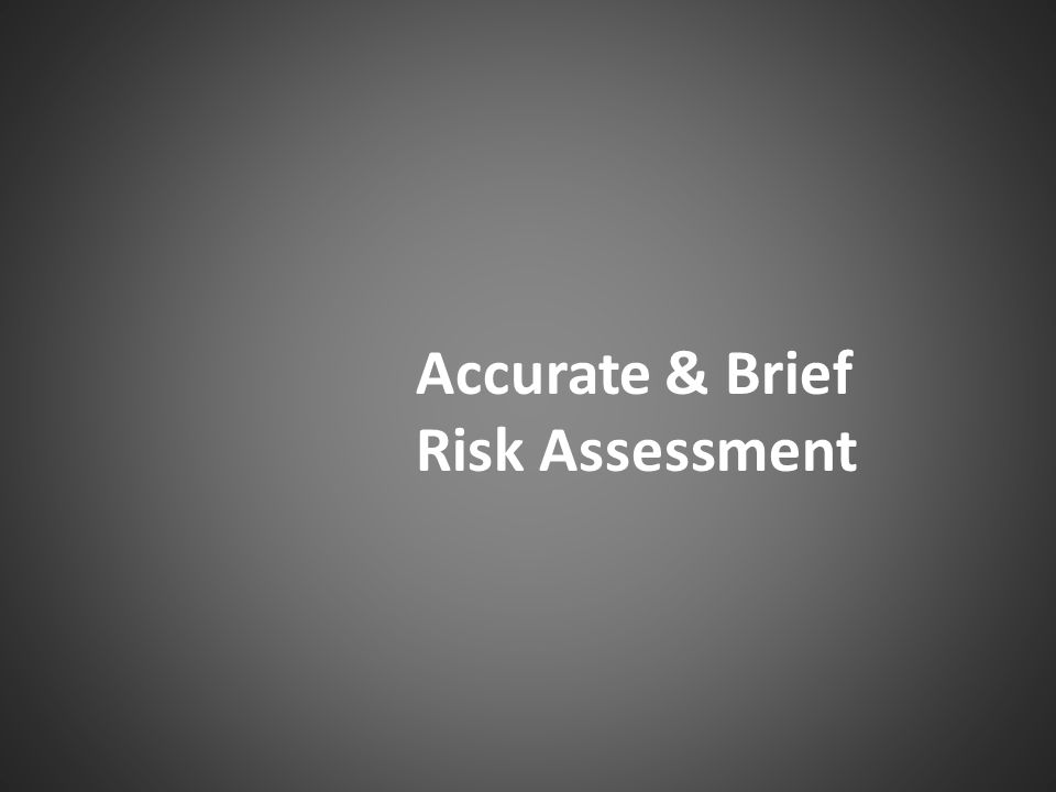 Accurate & Brief Risk Assessment