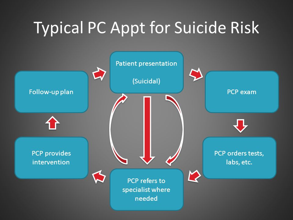 Typical PC Appt for Suicide Risk