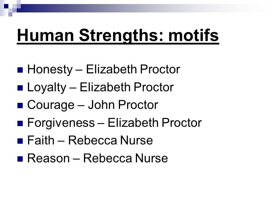 Human Strengths: motifs