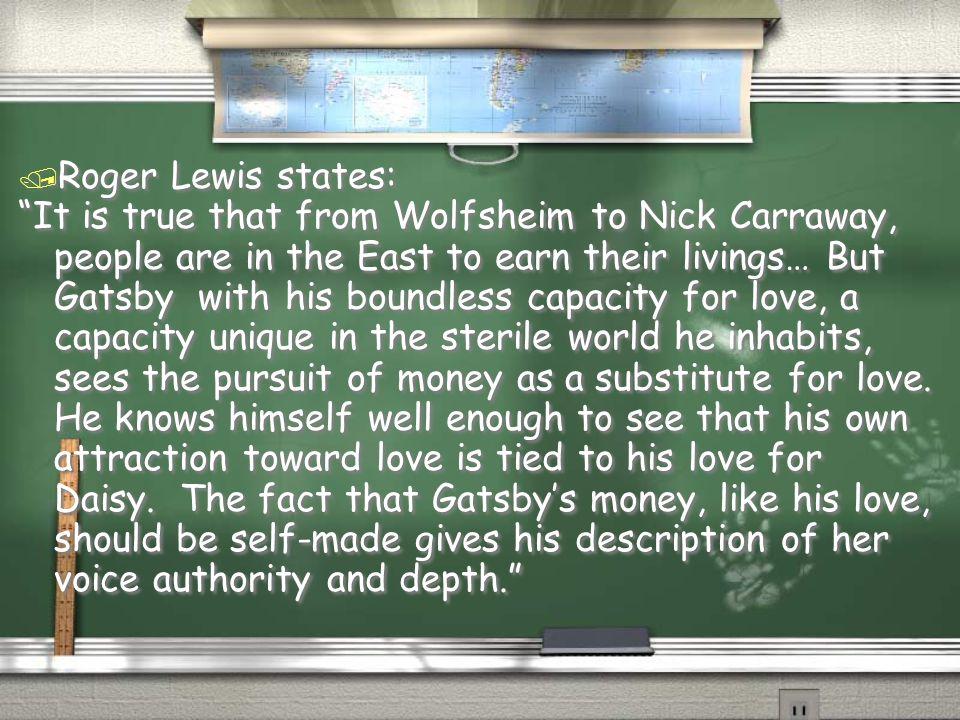 Roger Lewis states: