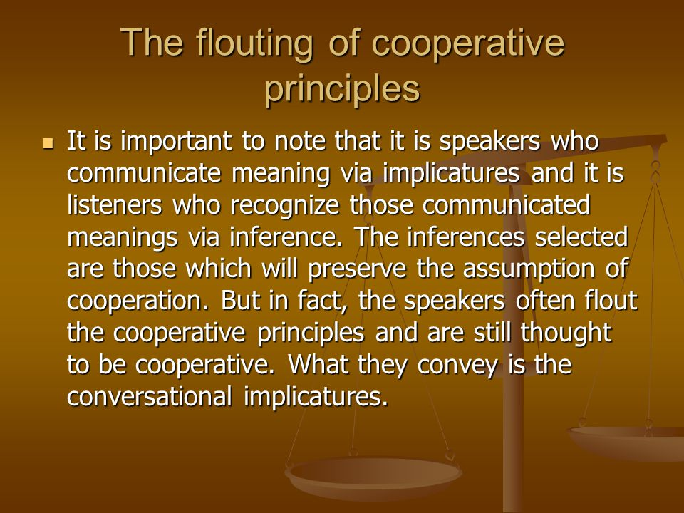 The flouting of cooperative principles