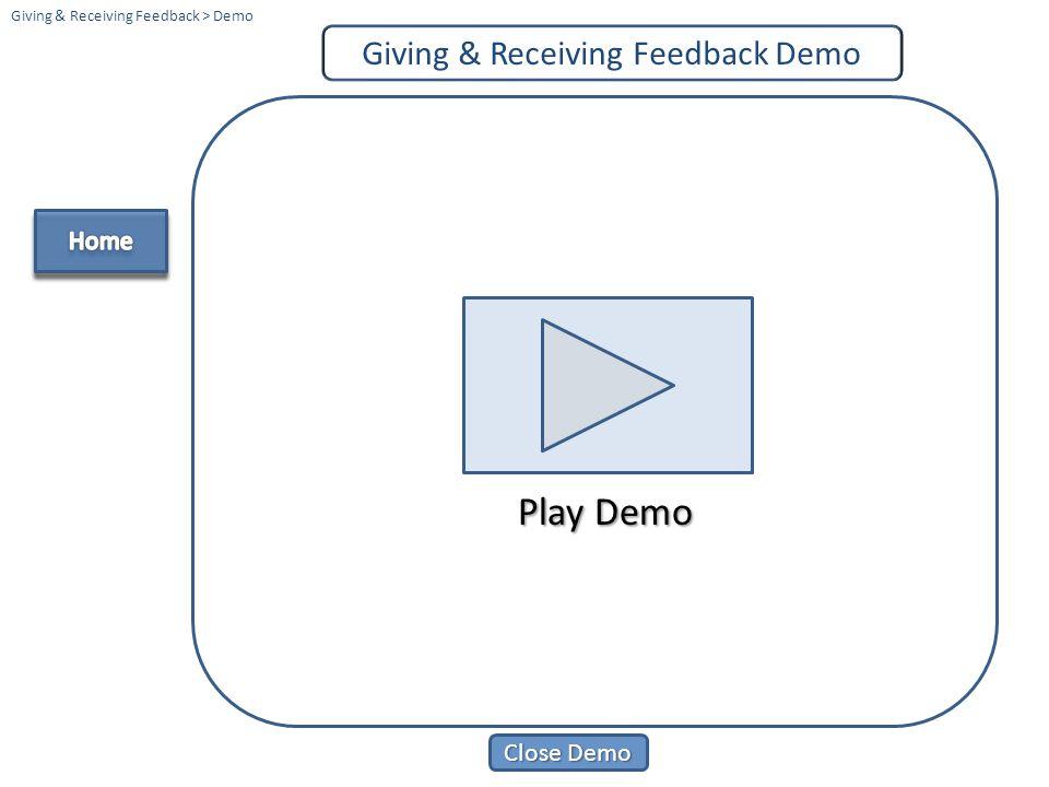 Giving & Receiving Feedback Demo