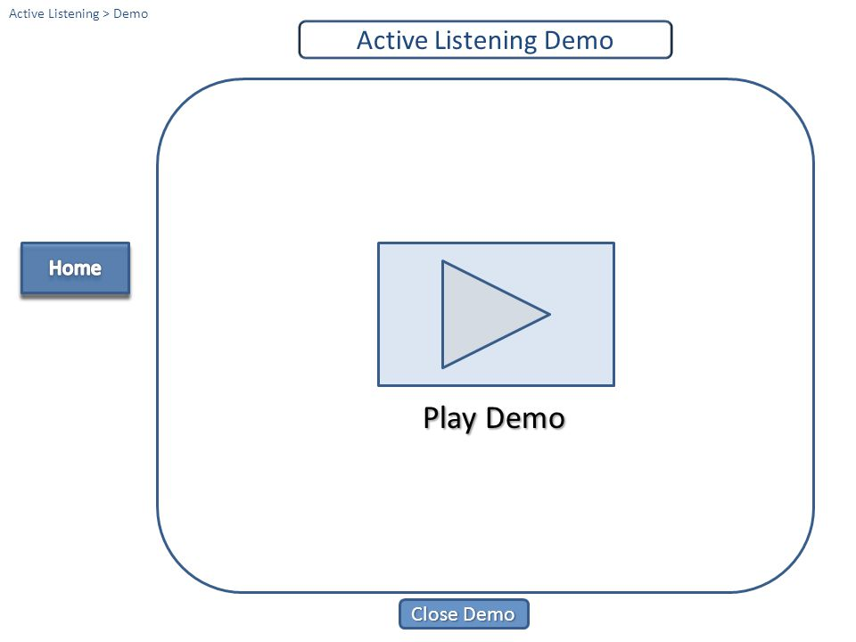 Play Demo Active Listening Demo Home Close Demo Home