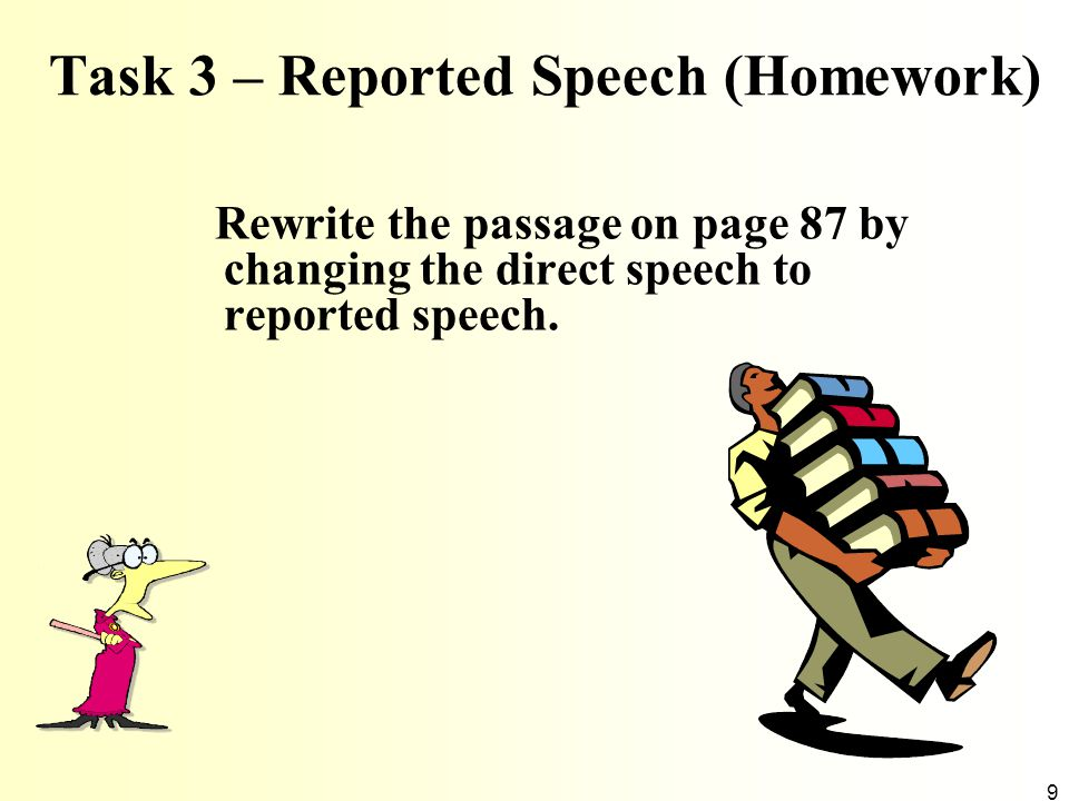 Task 3 – Reported Speech (Homework)