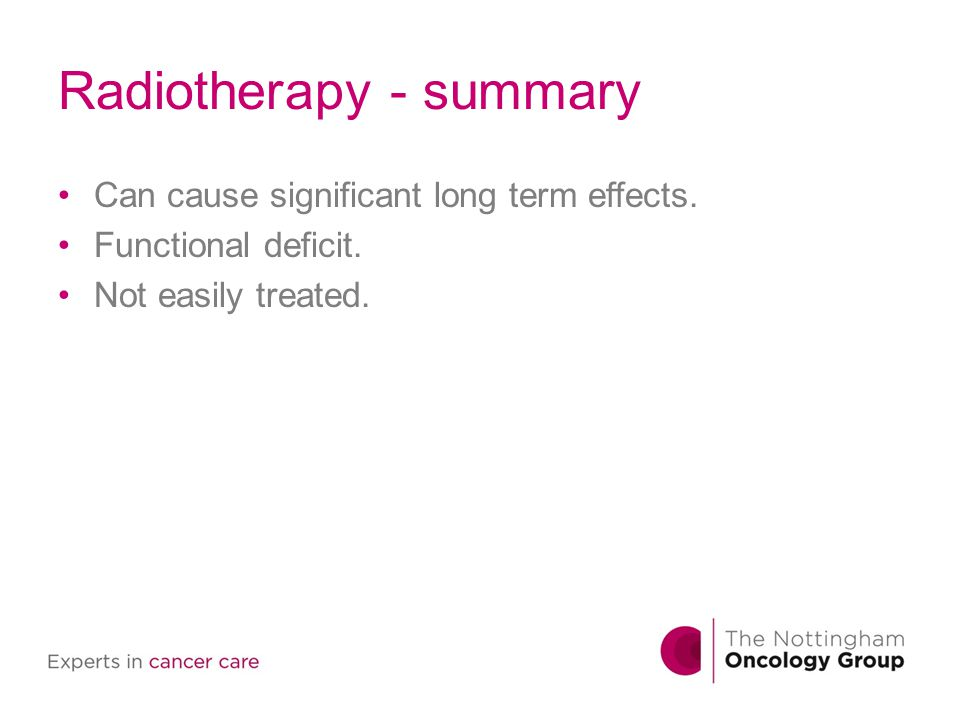 Radiotherapy - summary