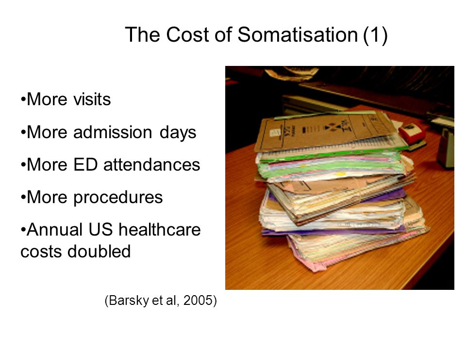 The Cost of Somatisation (1)