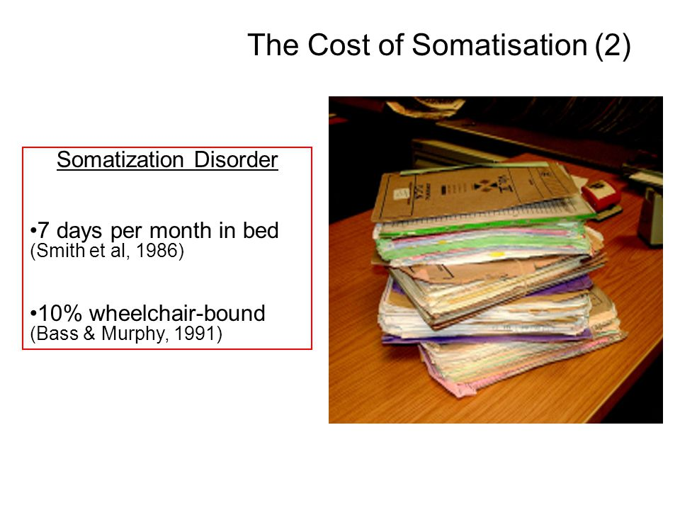 The Cost of Somatisation (2)
