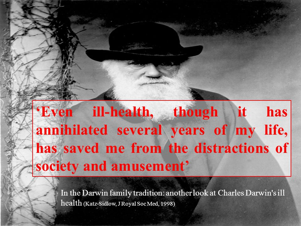 'Even ill-health, though it has annihilated several years of my life, has saved me from the distractions of society and amusement'