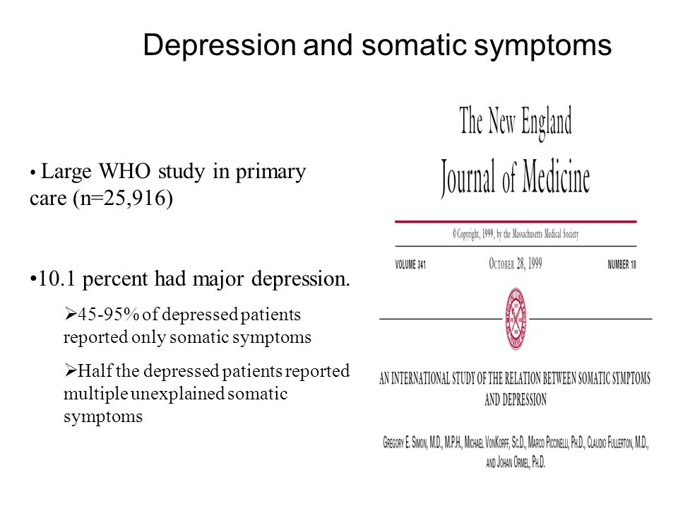 Depression and somatic symptoms