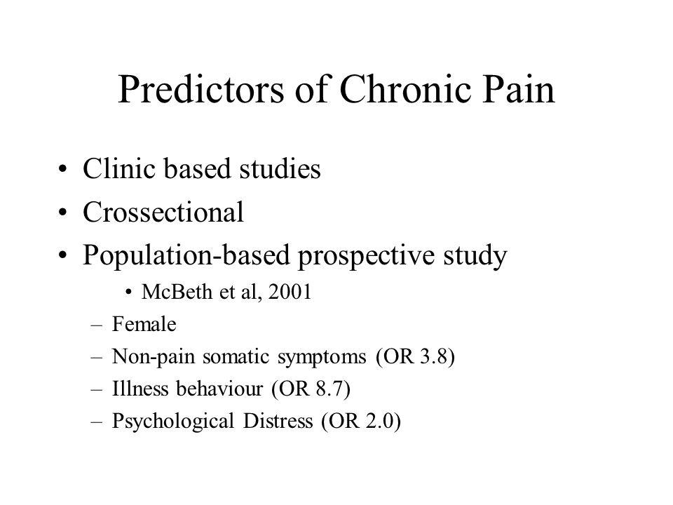 Predictors of Chronic Pain