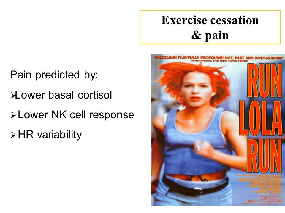 Exercise cessation & pain