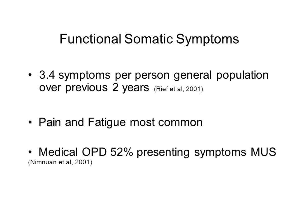 Functional Somatic Symptoms