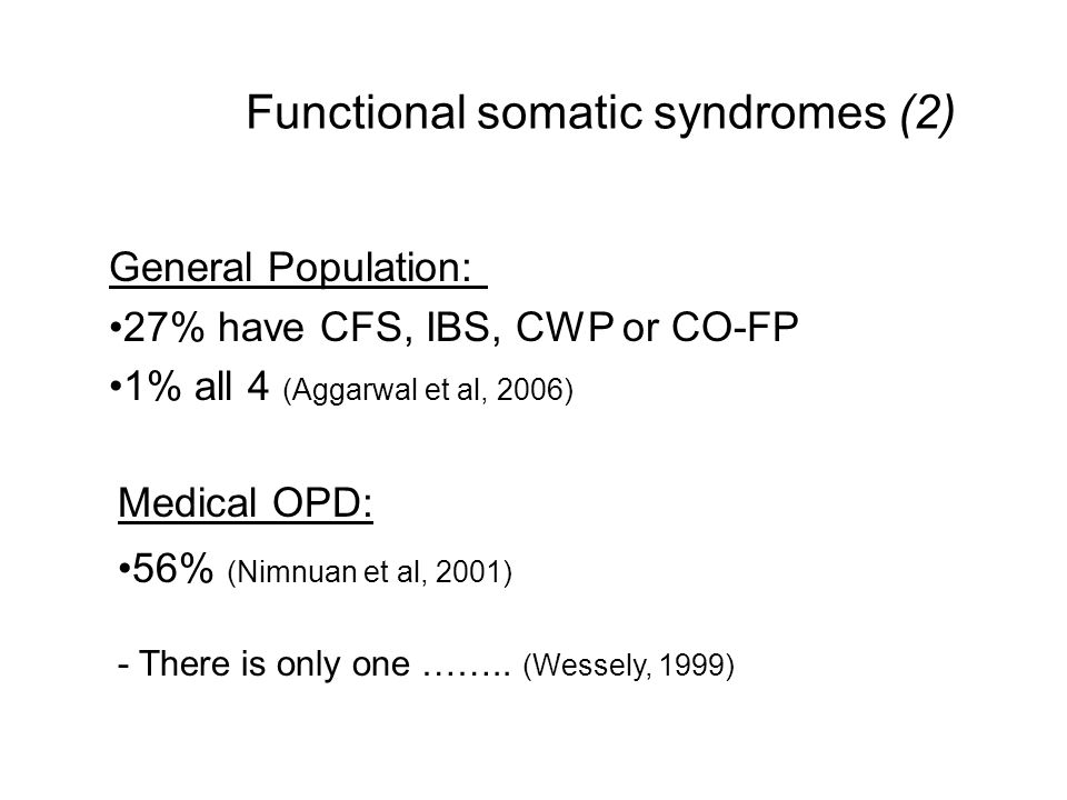 Functional somatic syndromes (2)
