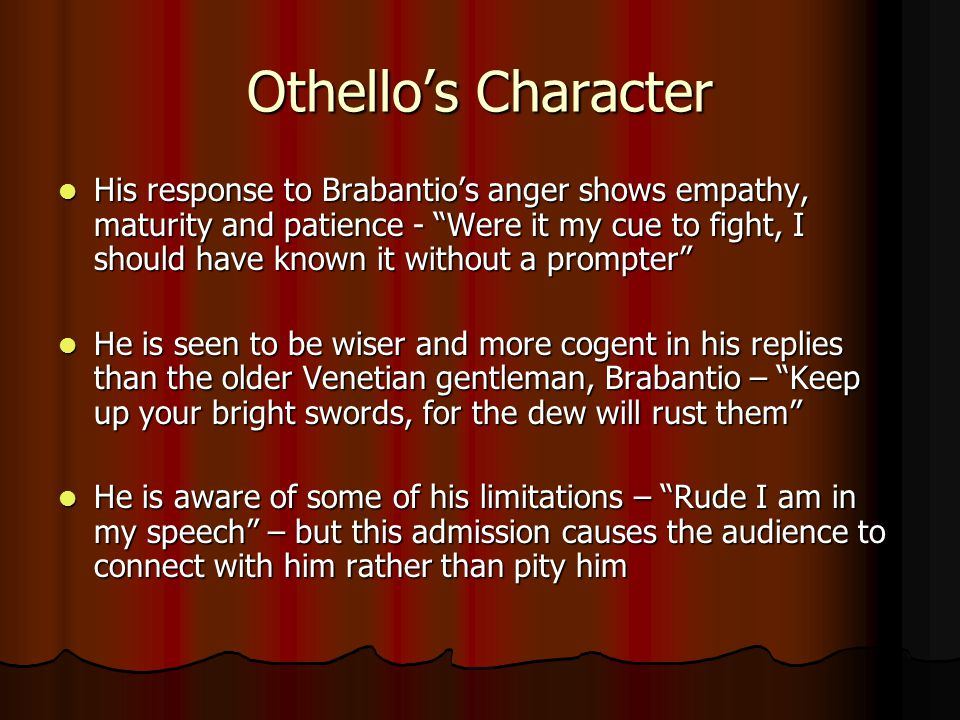 Othello's Character