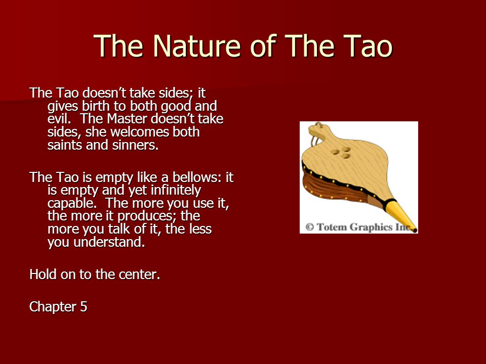 The Nature of The Tao