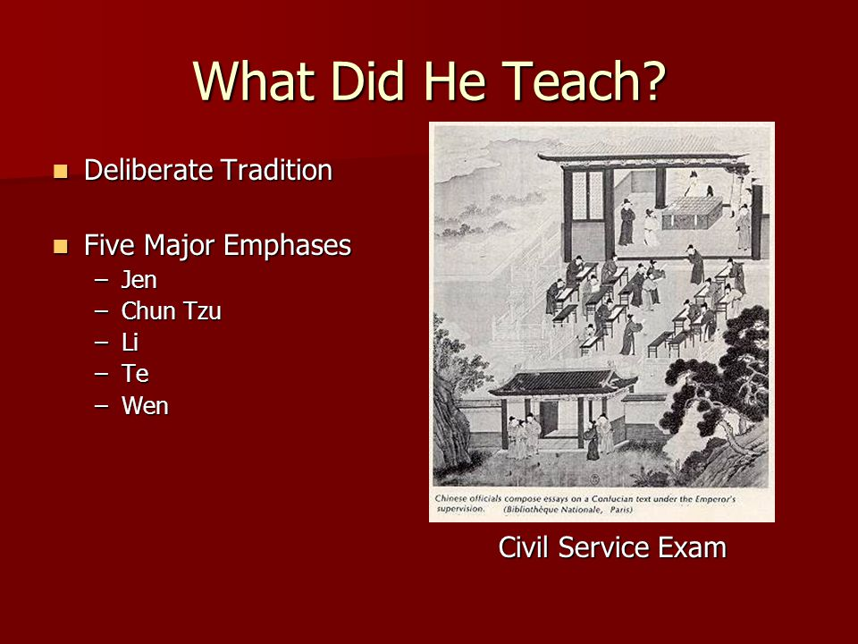 What Did He Teach Deliberate Tradition Five Major Emphases