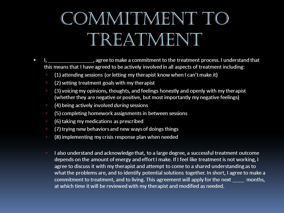 Commitment to Treatment