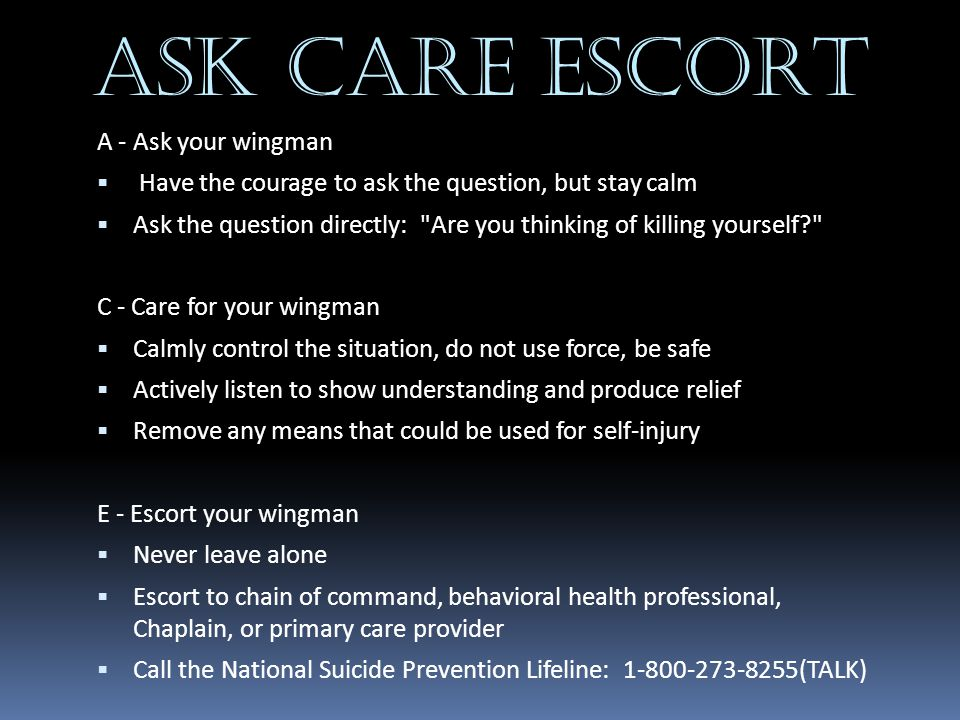 ASK CARE ESCORT A - Ask your wingman
