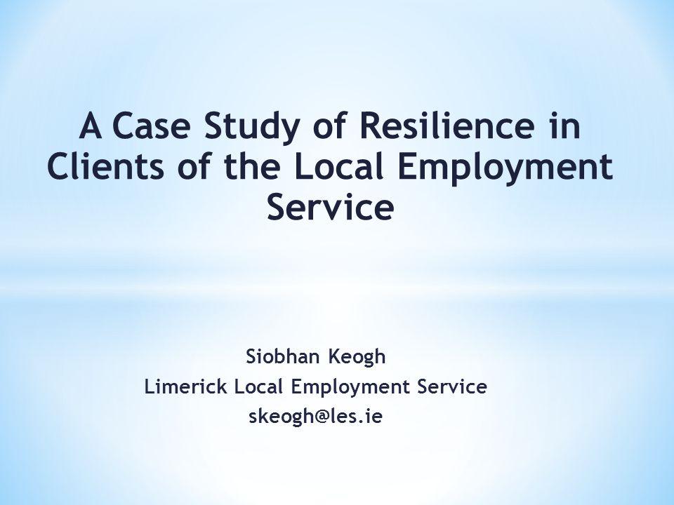 Siobhan Keogh Limerick Local Employment Service skeogh@les.ie