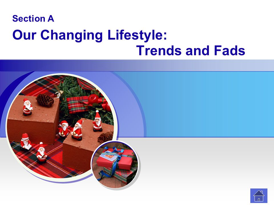Section A Our Changing Lifestyle: Trends and Fads