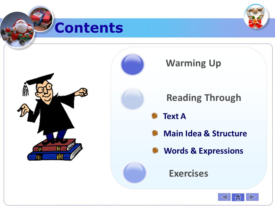 Contents Warming Up Reading Through Exercises Text A