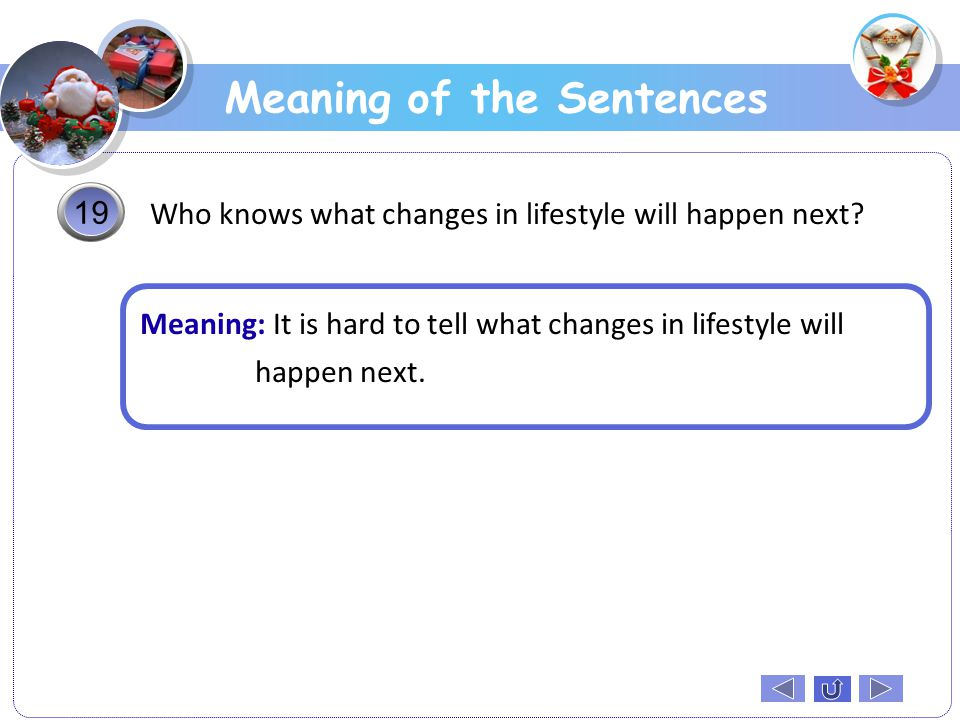 Meaning of the Sentences