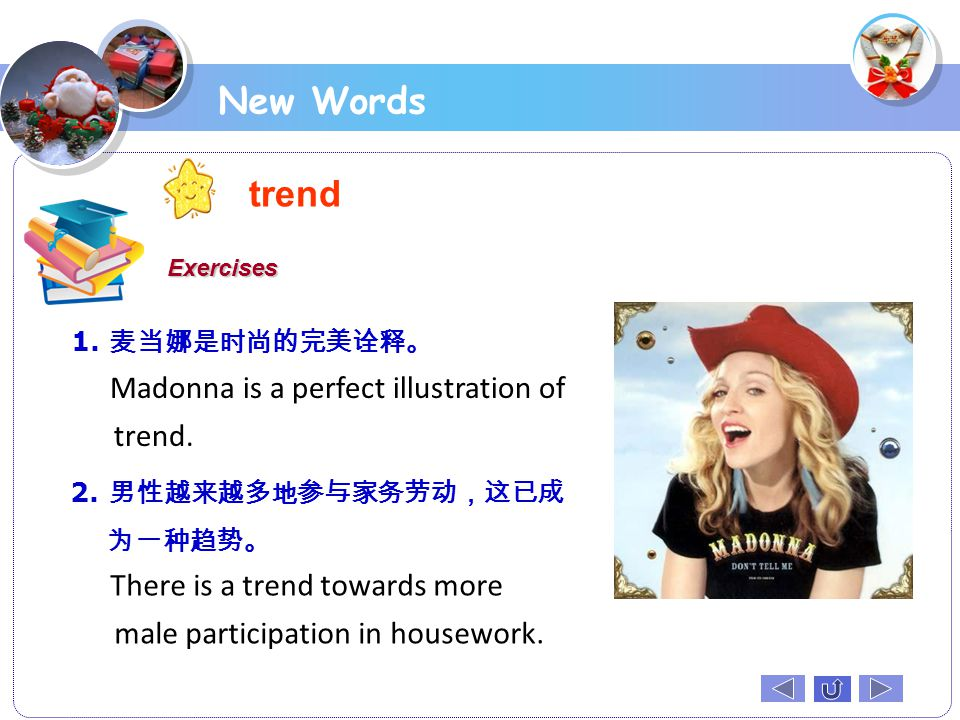 trend New Words Madonna is a perfect illustration of trend.